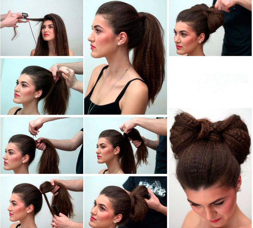 Прически на короткие волосы с гафрешкой фото