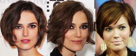 Короткая стрижка для квадратного лица для тонких волос