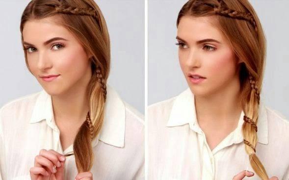 Прическа ушки из волос