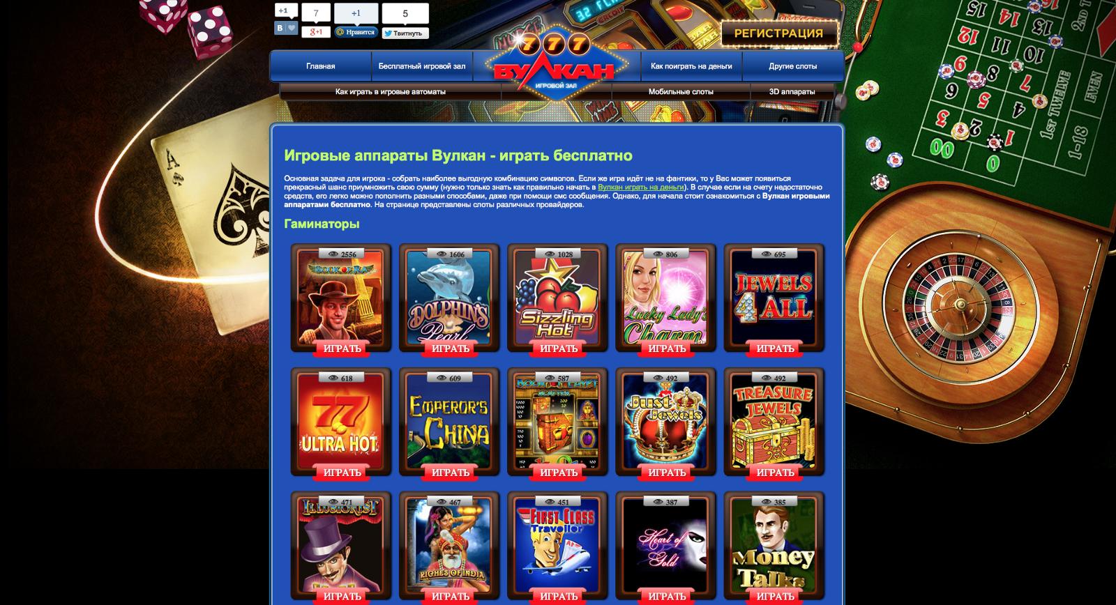 лучшие игровые автоматы вулкан
